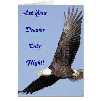 Tarjeta de felicitación de los sueños de Eagle