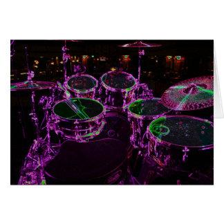 Tarjeta de felicitación de los tambores