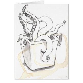 Tarjeta de felicitación de los tentáculos