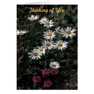 Tarjeta de felicitación de los Wildflowers de la