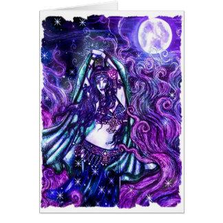 Tarjeta de felicitación de Luna