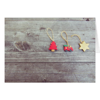 Tarjeta Tarjeta de felicitación de madera del navidad de