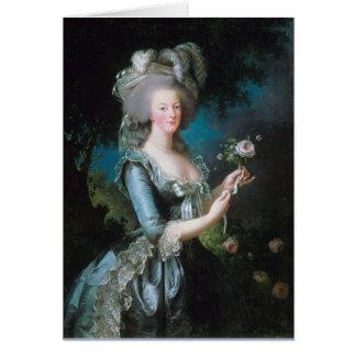 Tarjeta de felicitación de Marie Antonieta