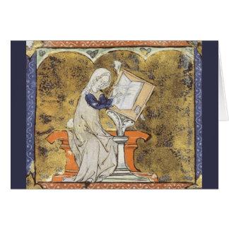 Tarjeta de felicitación de Marie de Francia