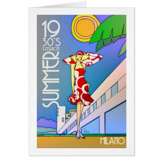 Tarjeta de felicitación de Milano del verano