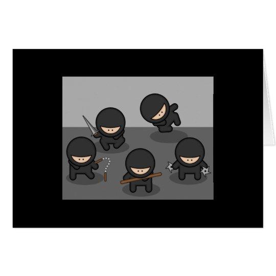 Tarjeta de felicitación de Ninja (espacio en