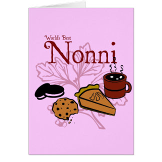 Tarjeta de felicitación de Nonni del feliz