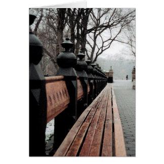 Tarjeta de felicitación de Nueva York Central Park