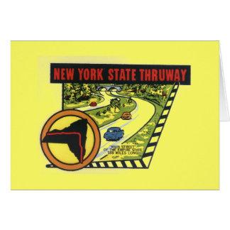Tarjeta de felicitación de Nueva York del vintage