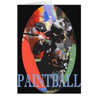 Tarjeta de felicitación de Paintball