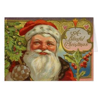 Tarjeta de felicitación de Papá Noel del navidad