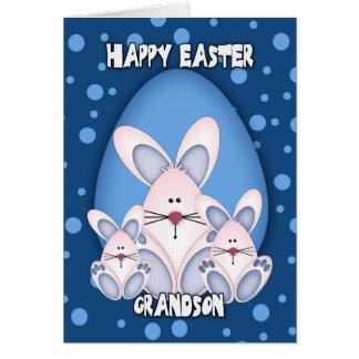 Tarjeta de felicitación de Pascua del nieto con