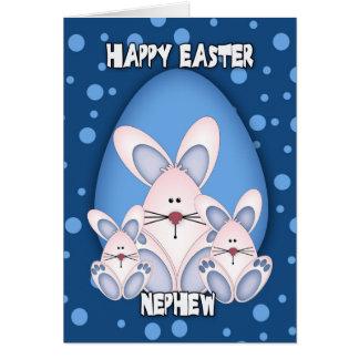 Tarjeta de felicitación de Pascua del sobrino con
