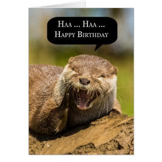 tarjeta de felicitación de risa del cumpleaños de