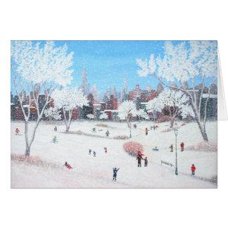 Tarjeta de felicitación de Snowday de Rino Li