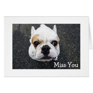 Tarjeta de felicitación de Srta. You Bulldog -