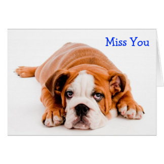 Tarjeta de felicitación de Srta. You Bulldog - ver