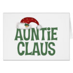 Tarjeta de felicitación de tía Claus