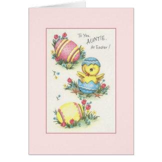 Tarjeta de felicitación de tía Pascua del vintage