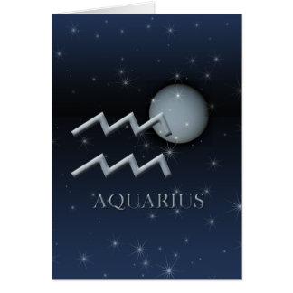 Tarjeta de felicitación de Urano del acuario