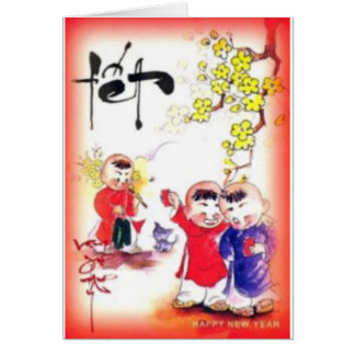 tarjeta de felicitación de Vietnam del tet