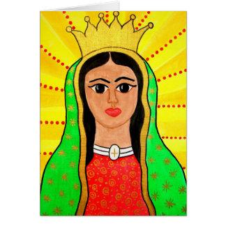 Tarjeta de felicitación de Virgen de Guadalupe