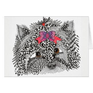 Tarjeta de felicitación de Yorkshire Terrier -