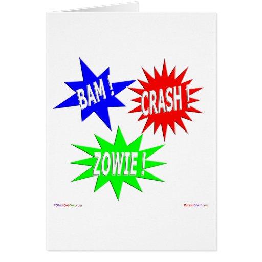 Tarjeta de felicitación de Zowie del desplome del