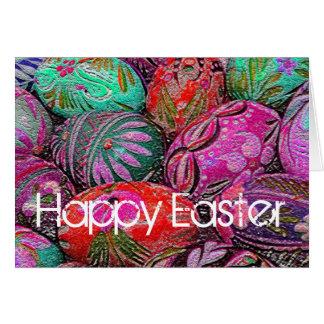 Tarjeta de felicitación decorativa de Pascua de lo