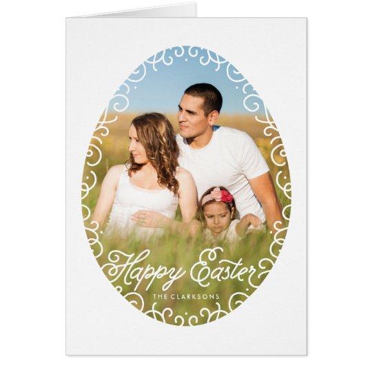 Tarjeta de felicitación decorativa de Pascua del