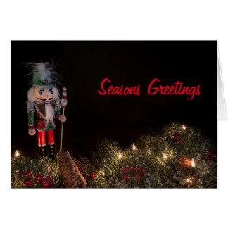 Tarjeta de felicitación decorativa del navidad del