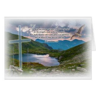 Tarjeta de felicitación del 12:9 de 2 Corinthian