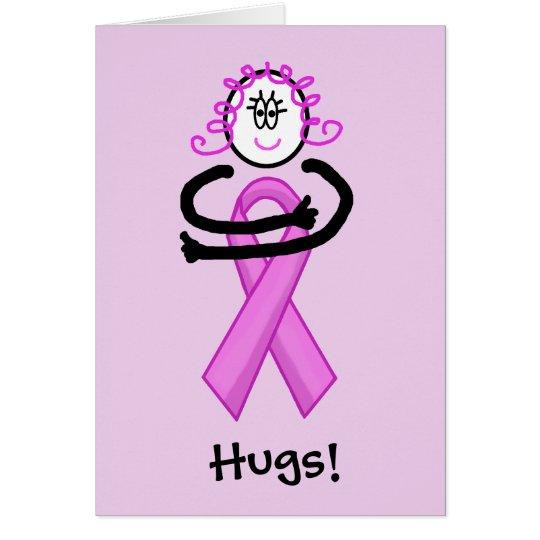 Tarjeta de felicitación del abrazo de la cinta del