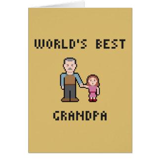 Tarjeta de felicitación del abuelo del mundo del