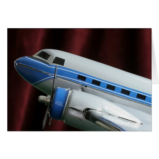 Tarjeta de felicitación del aeroplano de DC 3