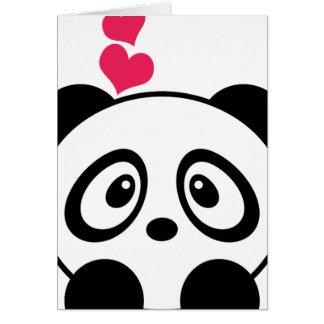 Tarjeta de felicitación del amor de la panda
