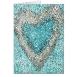 Tarjeta de felicitación del amor de la turquesa