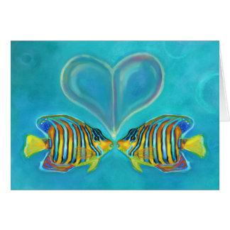 """""""Tarjeta de felicitación del amor del Angelfish"""" -"""