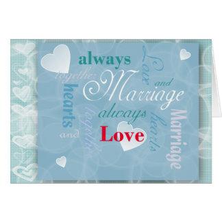 Tarjeta de felicitación del amor y de la boda