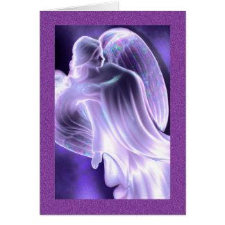 Tarjeta de felicitación del ángel azul