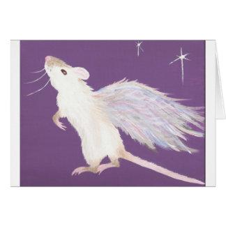 ¡Tarjeta de felicitación del ángel de la rata!