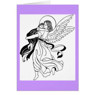 Tarjeta de felicitación del ángel de la velada de
