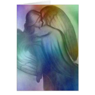 Tarjeta de felicitación del ángel del arco iris