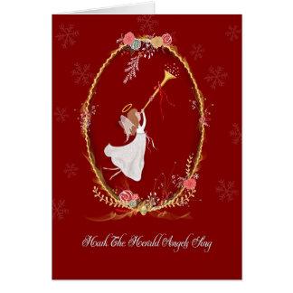 Tarjeta de felicitación del ángel del navidad