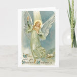 Tarjeta de felicitación del ángel del navidad del