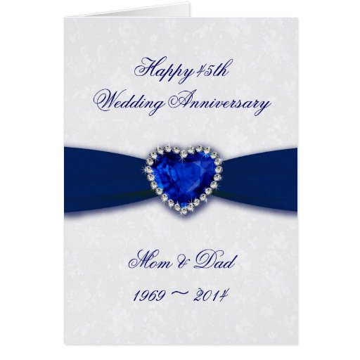 Tarjeta de felicitación del aniversario de boda de