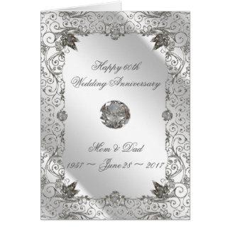 Tarjeta de felicitación del aniversario del