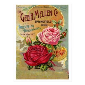 Tarjeta de felicitación del anuncio del vintage postal