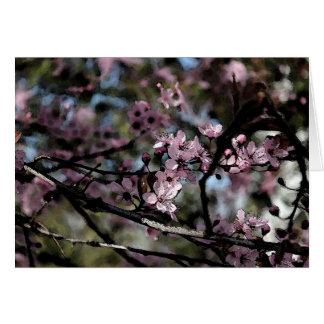 Tarjeta de felicitación del árbol de ciruelo