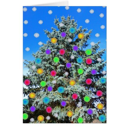 Tarjeta de felicitación del árbol de navidad